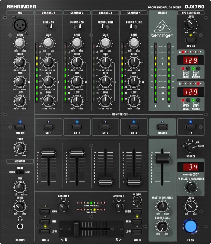 Mikser DJ BEHRINGER PRO MIXER DJX750